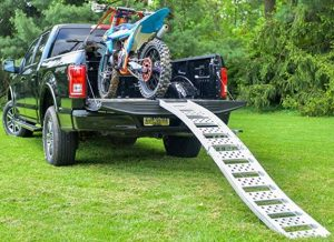 how to transport a dirt bike truck ramp